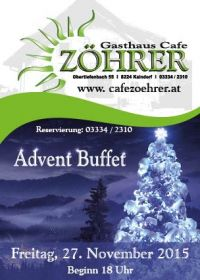 Advent Buffet  für 10 Personen