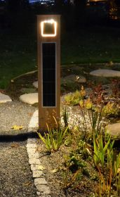 Solare Design Gartenleuchte Woodlight