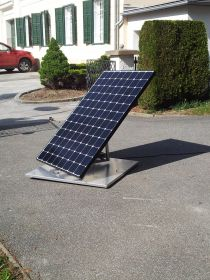 Mini Suntracker Plug- In PV Anlage