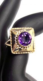 Ring in Gold mit Amethyst