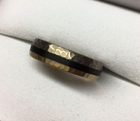 Gold Carbon Herrenring