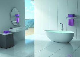 Badewanne LIN Collection Steinguss
