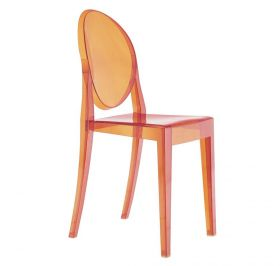 Kartell Victoria Ghost Stuhl orange