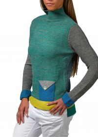 Color Neck Pullover
