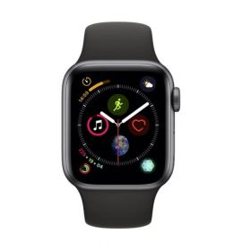 Apple Watch 4 grau 40mm Band schwarz
