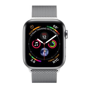 Apple Watch 4 40mm Milanaise silber